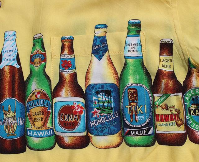 ヒューストン アロハシャツ ビール